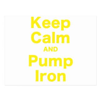 Keep Calm and Pump Iron Post Card