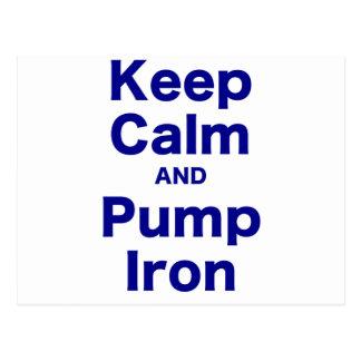 Keep Calm and Pump Iron Postcards
