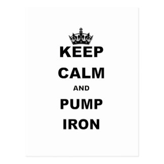 KEEP CALM AND PUMP ON.png Post Cards