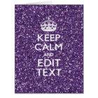 Keep Calm and Purple Mauve Card