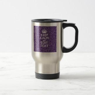 Keep Calm and Purple Mauve Travel Mug
