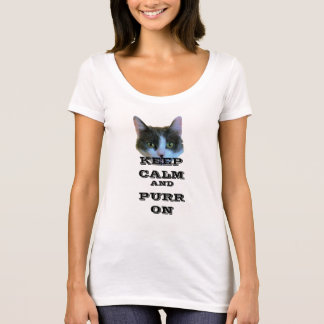 Keep calm and purr on OH HI kitty T-Shirt