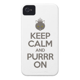 Keep Calm and Purrr On iPhone 4 Case-Mate Case