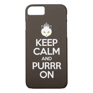 Keep Calm and Purrr On iPhone 8/7 Case