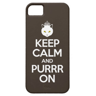 Keep Calm and Purrr On iPhone SE/5/5s Case