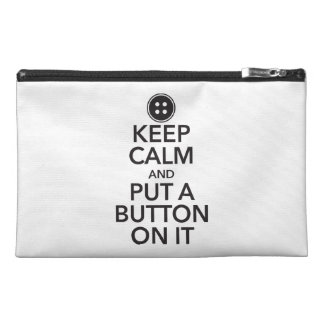 Keep Calm and Put A Button On It Mini Bag Travel Accessory Bag