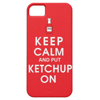 Keep calm and put ketchup funny food hot dog hambu iPhone SE/5/5s case