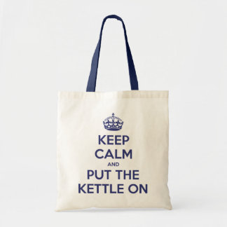Keep Calm and Put The Kettle On Budget Tote Bag