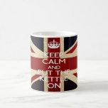 Keep Calm and Put The Kettle On Classic White Coffee Mug