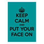Keep Calm and Put Your Face On Large Business Cards (Pack Of 100)