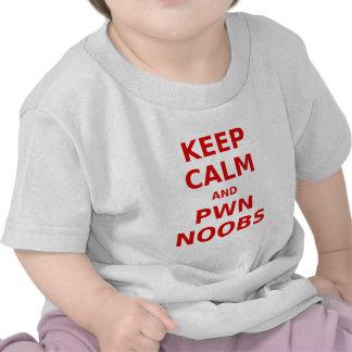 Keep Calm and Pwn Noobs Tee Shirts