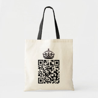 KEEP CALM and QR'y ON Tote Bag