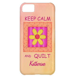 Keep Calm and Quilt Applique Block Your Name Case For iPhone 5C