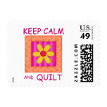 Keep Calm and Quilt Applique Flower Block Stamps
