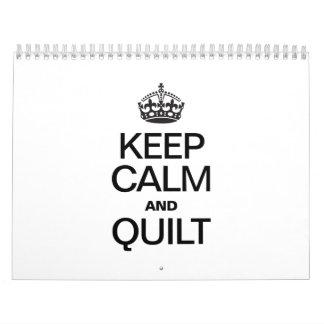 KEEP CALM AND QUILT CALENDAR