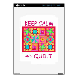 Keep Calm and Quilt Multi Block Patchwork Quilt iPad 3 Decal