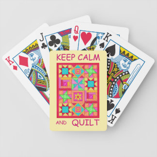 Keep Calm and Quilt Multi Block Patchwork Quilt Card Deck