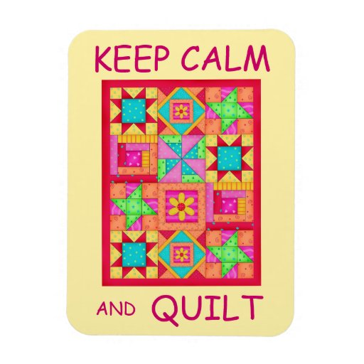 Keep Calm and Quilt Multi Block Patchwork Quilt Magnets