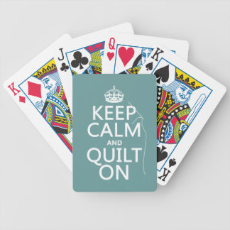 Keep Calm and Quilt On - available in all colors Poker Deck