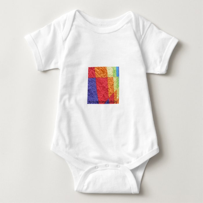 Keep Calm and Quilt On Baby Bodysuit