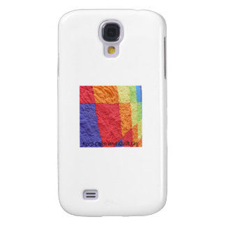 Keep Calm and Quilt On Samsung Galaxy S4 Cover