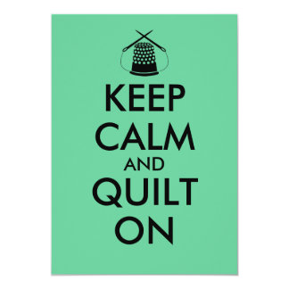 Keep Calm and Quilt On Sewing Thimble Needles Card