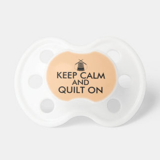 Keep Calm and Quilt On Sewing Thimble Needles Pacifier