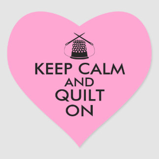Keep Calm and Quilt On Sewing Thimble Needles Stickers