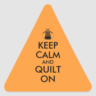 Keep Calm and Quilt On Sewing Thimble Needles Triangle Sticker