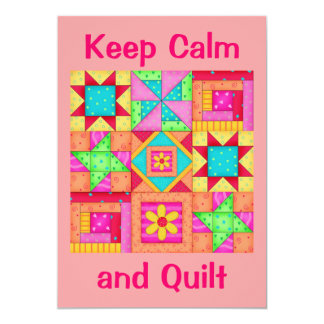 Keep Calm and Quilt Patchwork Quilt Invitation