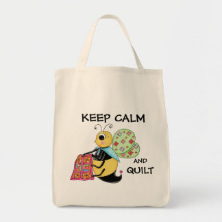 Keep Calm and Quilt Whimsy Honey Bee Art Bags