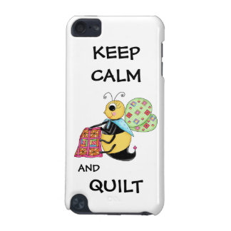 Keep Calm and Quilt Whimsy Honey Bee Art iPod Touch (5th Generation) Case