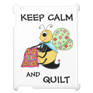 Keep Calm and Quilt Whimsy Honey Bee Art iPad Case