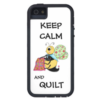 Keep Calm and Quilt Whimsy Honey Bee Art iPhone SE/5/5s Case