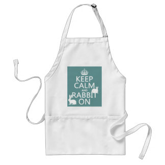Keep Calm and Rabbit On - all colors Adult Apron