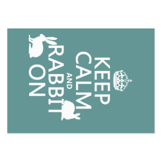 Keep Calm and Rabbit On - all colors Business Cards