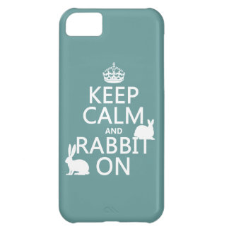 Keep Calm and Rabbit On - all colors iPhone 5C Cover