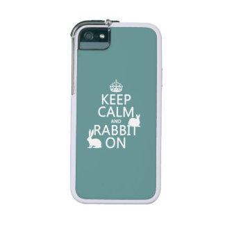 Keep Calm and Rabbit On - all colors iPhone 5/5S Covers