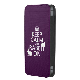 Keep Calm and Rabbit On - all colors iPhone 5 Pouch