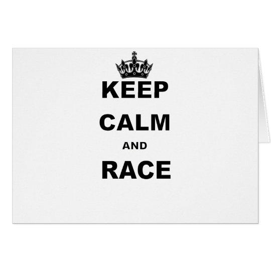 KEEP CALM AND RACE CARD
