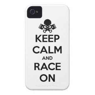 keep calm and race on iPhone 4 cover