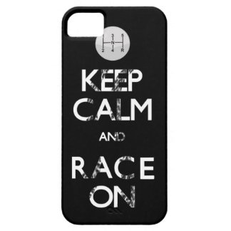keep calm and race on iPhone 5 covers