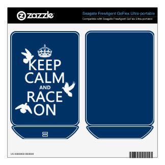 Keep Calm and Race On (Pigeons) (all colors) FreeAgent GoFlex Decal