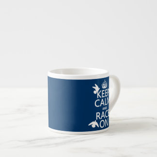 Keep Calm and Race On Pigeons all colors Espresso Mugs