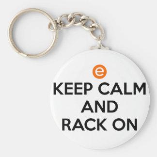 Keep Calm and Rack On Keychain