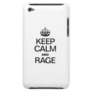 KEEP CALM AND RAGE iPod TOUCH COVERS