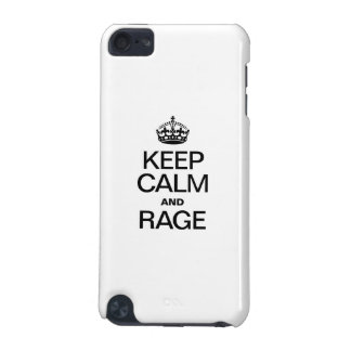 KEEP CALM AND RAGE iPod TOUCH (5TH GENERATION) COVER