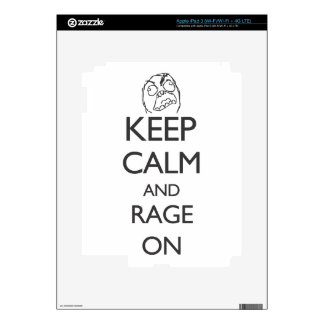 Keep Calm and Rage On Decal For iPad 3