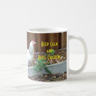Keep Calm and Raise Chickens Mug
