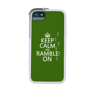 Keep Calm and Ramble On (any background color) Cover For iPhone 5/5S